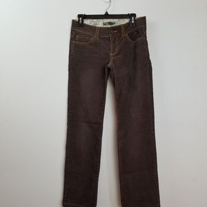 Prana women's brown corduroy pants size 4